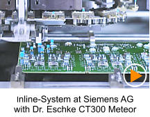 Inline-System at Siemens AG with Dr. Eschke CT300 Meteor